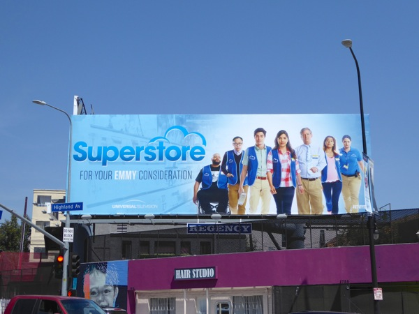 Superstore season 1 Emmy 2016 billboard