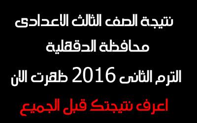 نتيجة-الصف-الثالث-الاعدادى-الترم-الثانى-محافظة-الدقهلية-2016-اليوم-السابع