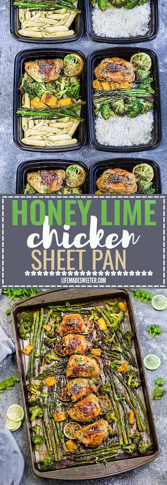 Honey Lime Chicken Sheet Pan with Asparagus