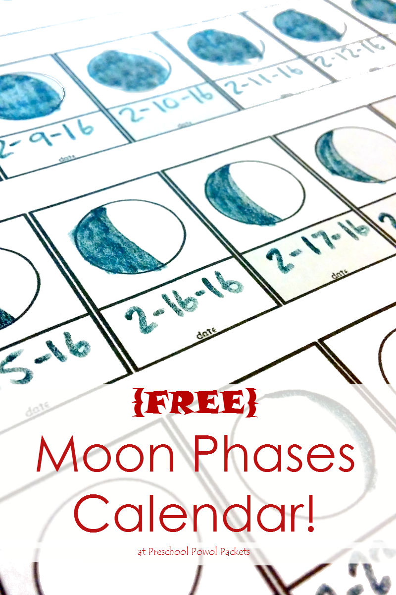 picture regarding Moon Phase Printable titled Absolutely free Moon Action Monitoring Printable! Preschool Powol Packets