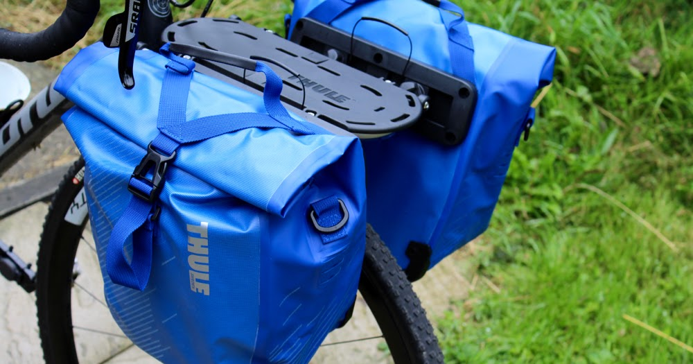 review thule pack 39 n pedal shield front panniers and. Black Bedroom Furniture Sets. Home Design Ideas
