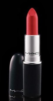 A red lipstick of mac ruby woo lipstick
