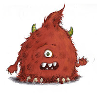 Skizzen, Monster, Zyklop, Kinderbuchillustration