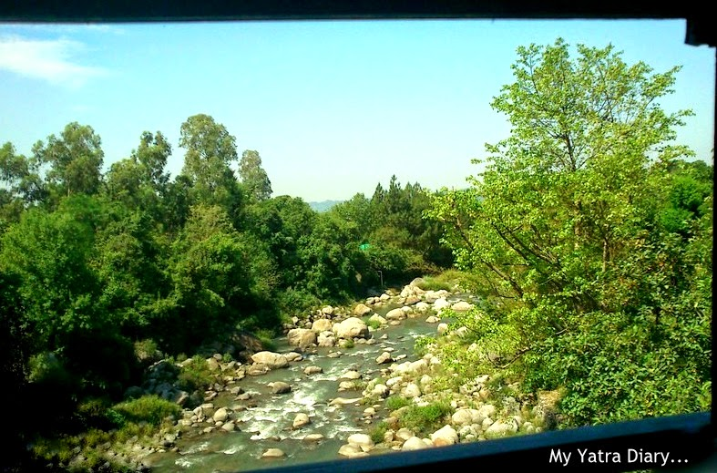 A scene from my bus window from Pathankot to Dharamsala - Himachal Pradesh