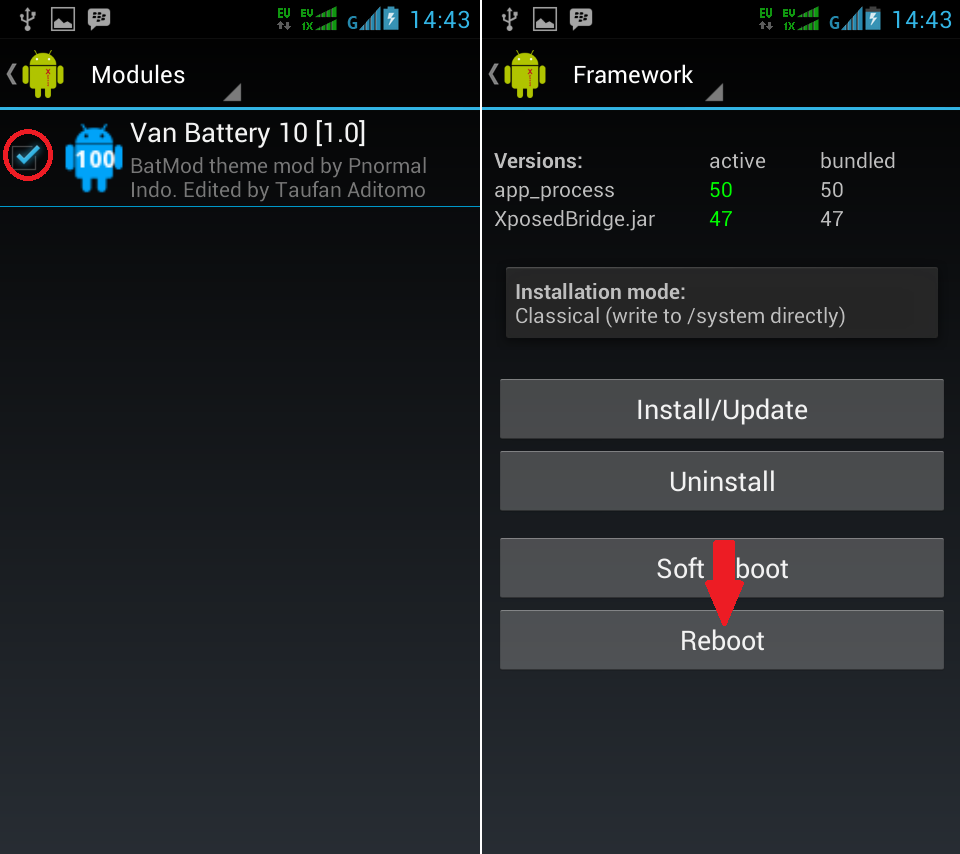 Cara Mengganti Icon Battery Android Menggunakan Custom Battery Mod