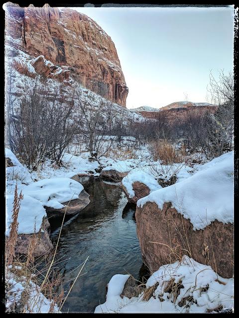 River at Grandstaff Canyon Moab Utah