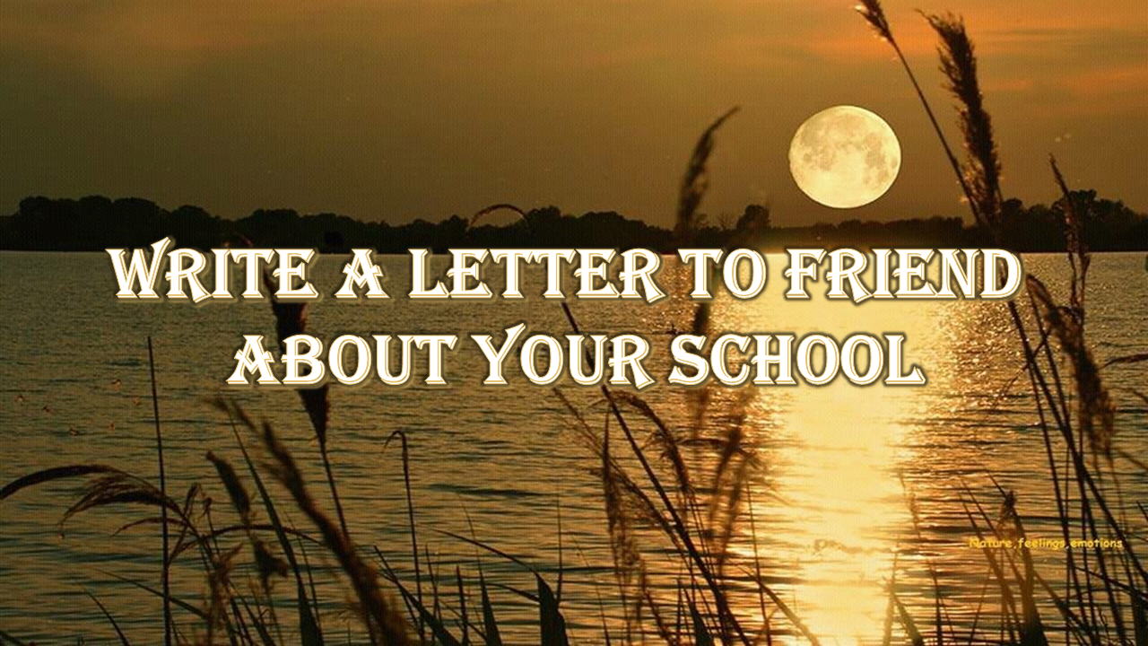 Write a letter to friend about your school ~ Aik Umang