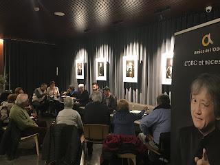 Resum fotogràfic de la trobada amb Francisco López, nou solista de flauta
