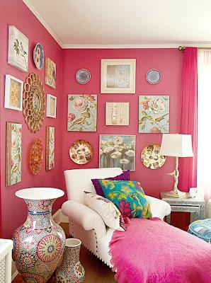 Parede cor de rosa