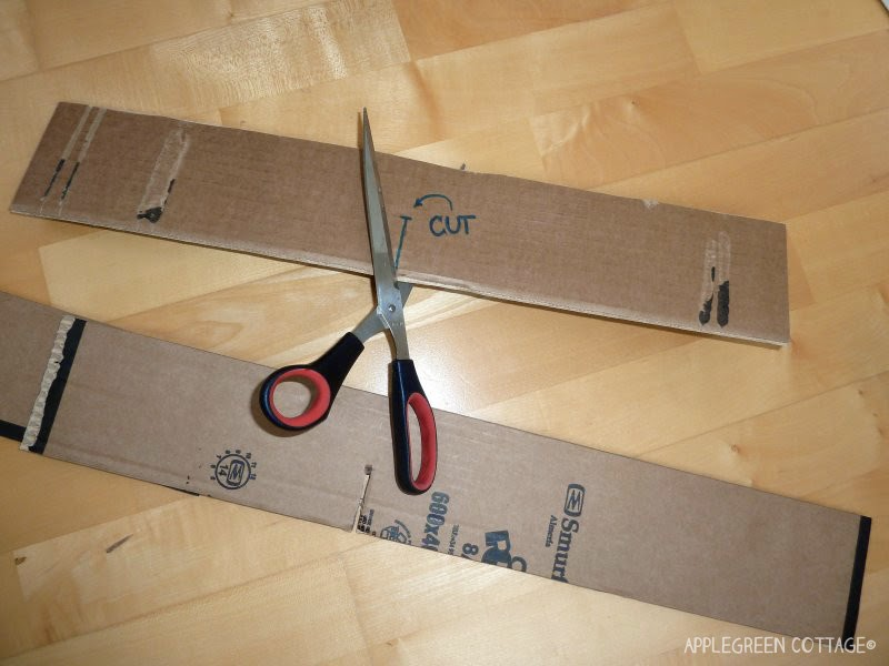 DIY drawer divider - center cut
