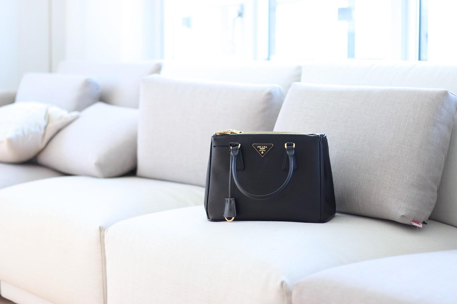 Prada Saffiano Double Zip Handbag