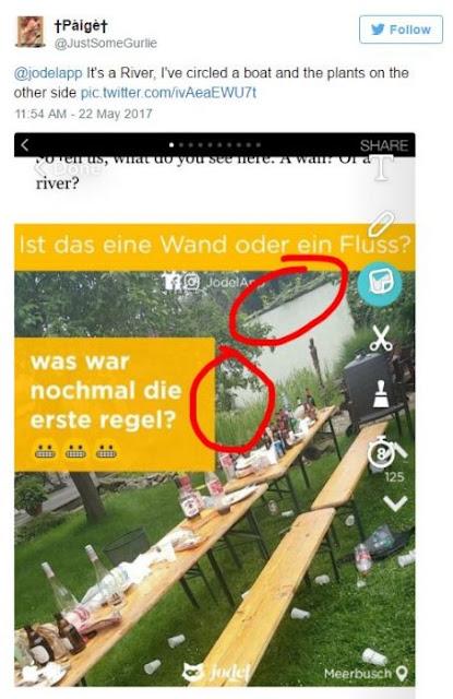 La imagen que tiene a todo el mundo rompiéndose la cabeza… ¿Ves una pared o un río?