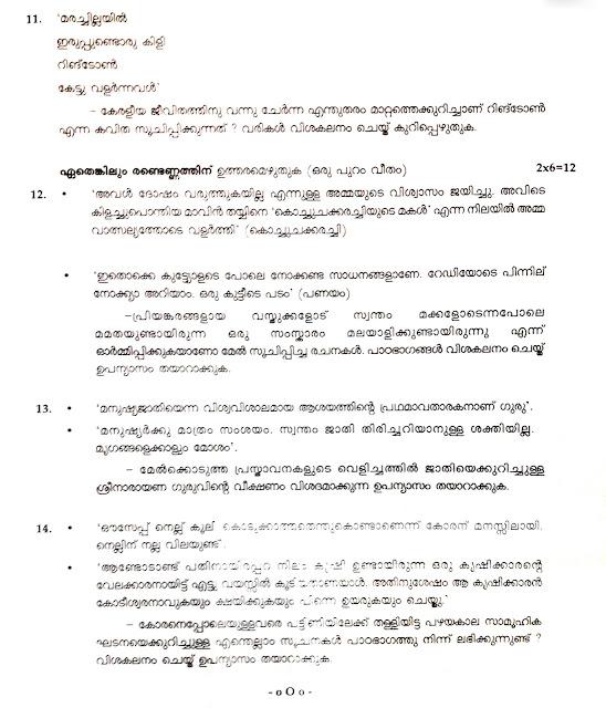 Education kerala paper