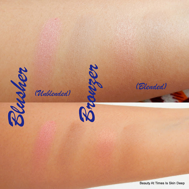 EB Advance Blush Duo Golden Goddess swatches