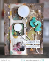 Kartenwind : 62. Geburtstagskarte #kartenwind #cardmaking #karte #averyelle #diecutting #papersmooches #balloons #danipeuss