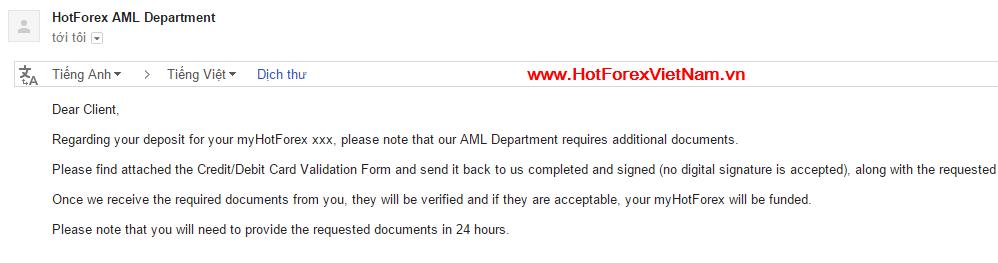 HotForex AML