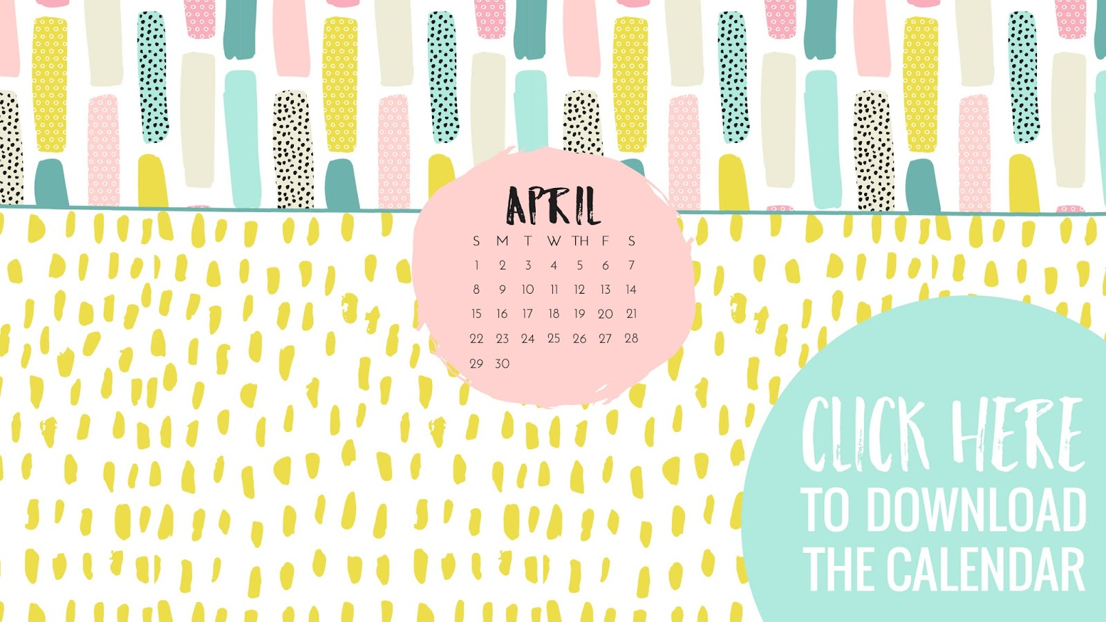 • April 2018 • Computer Desktop Calendar Background and matching iPhone Backgrounds