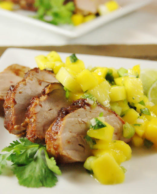 40+ Food & Drink Recipes for Cinco de Mayo Fun - Sweet Spicy Pork Tenderloin Image