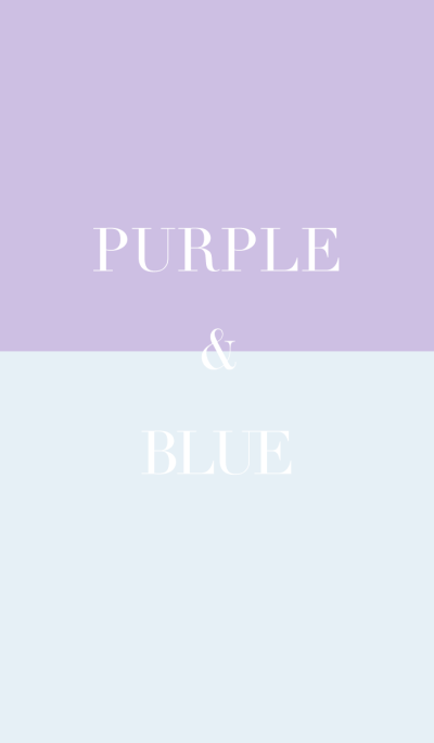 purple & blue .