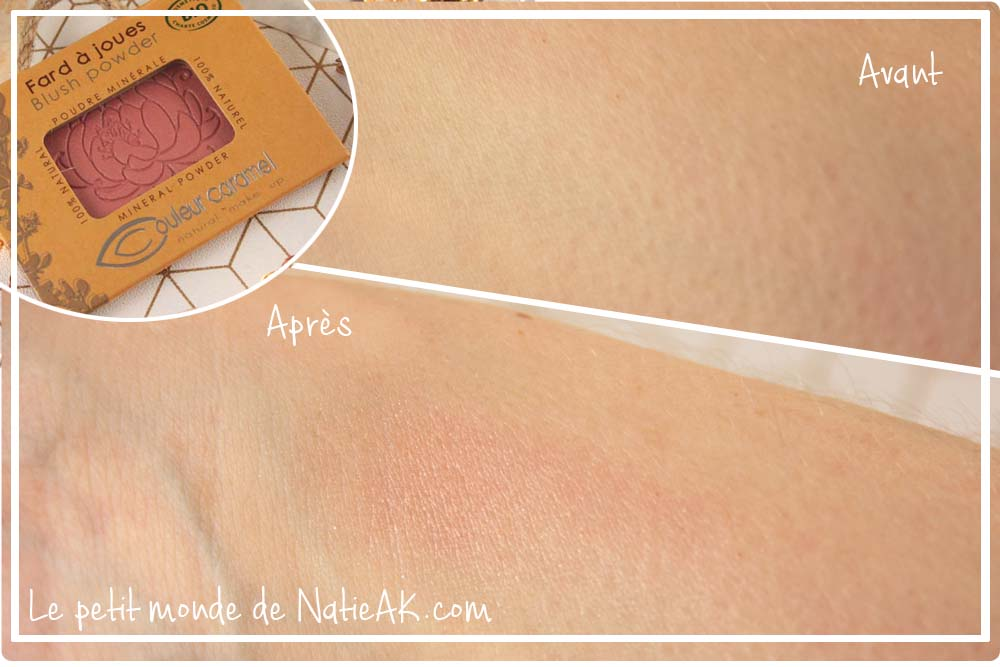 blush naturel couleur caramel