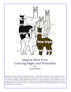 Alpacas Rock Free Coloring Pages E-Book
