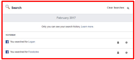 Delete Facebook Search