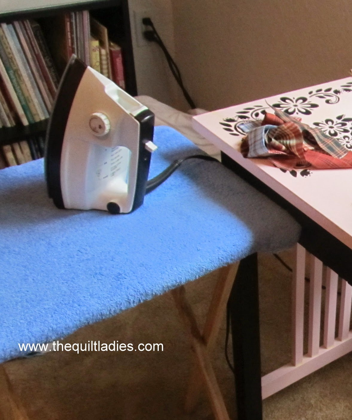 iron board from a tv tray how to
