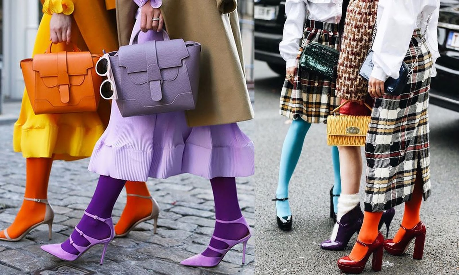 módne trendy jeseň/zima 2018: farebné pančuchy // tipy a triky ako ich nosiť