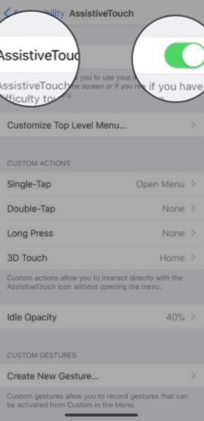 كيفية اضافة زر الشاشة الرئيسية الافتراضي في ايفون X
