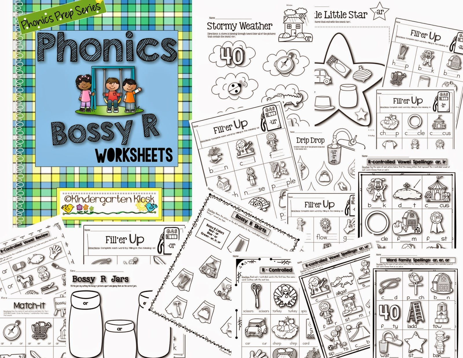 Kindergarten Kiosk R Controlled Bossy R Worksheets