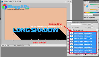 Cara Membuat Long Shadow di Photoshop