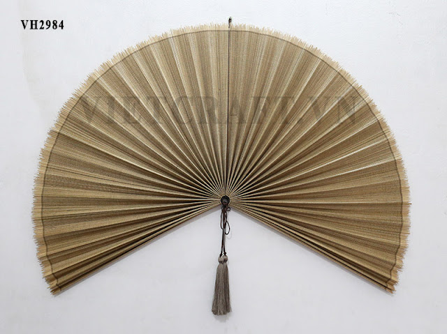 Decorative Wall Fans : Bamboo fan vietnamese decorative large
