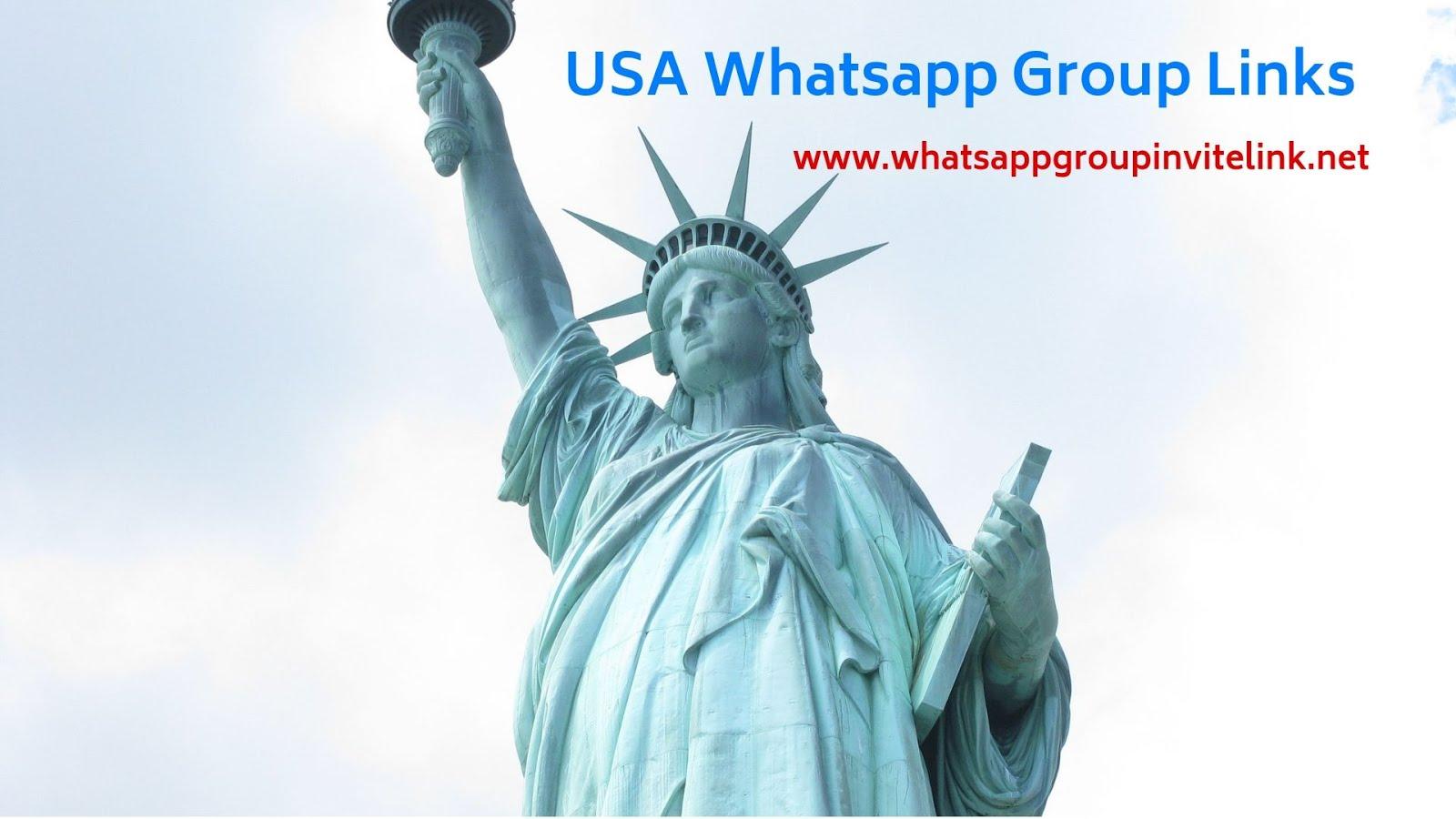 Whatsapp Group Invite Links: USA Whatsapp Group Links