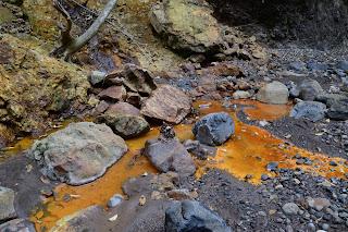 Orange Water in Rio Viejo, Puriscal, Costa Rica