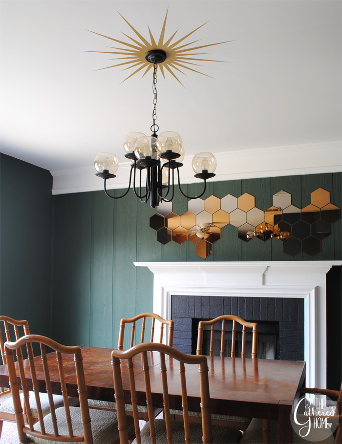 9+dining room midcentury chandelier honefoss mirrors 8 16 Spring Home Decor Projects 44