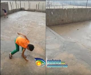 Chuva de granizo atinge interior da Paraíba e leva população à loucura; veja vídeo