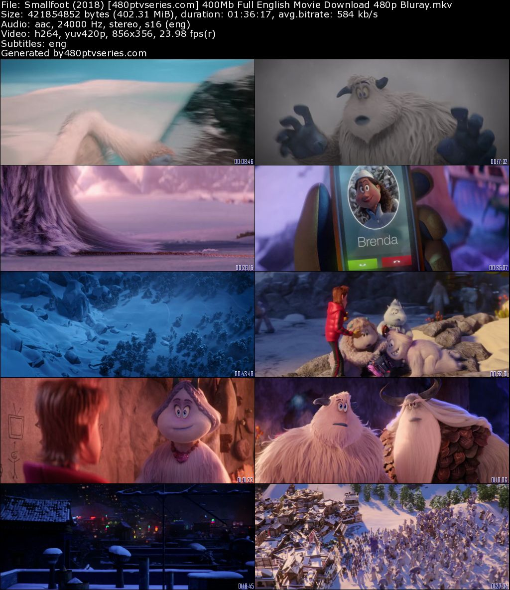 Smallfoot (2018) 400Mb Full English Movie Download 480p Bluray Free Watch Online Full Movie Download Worldfree4u 9xmovies