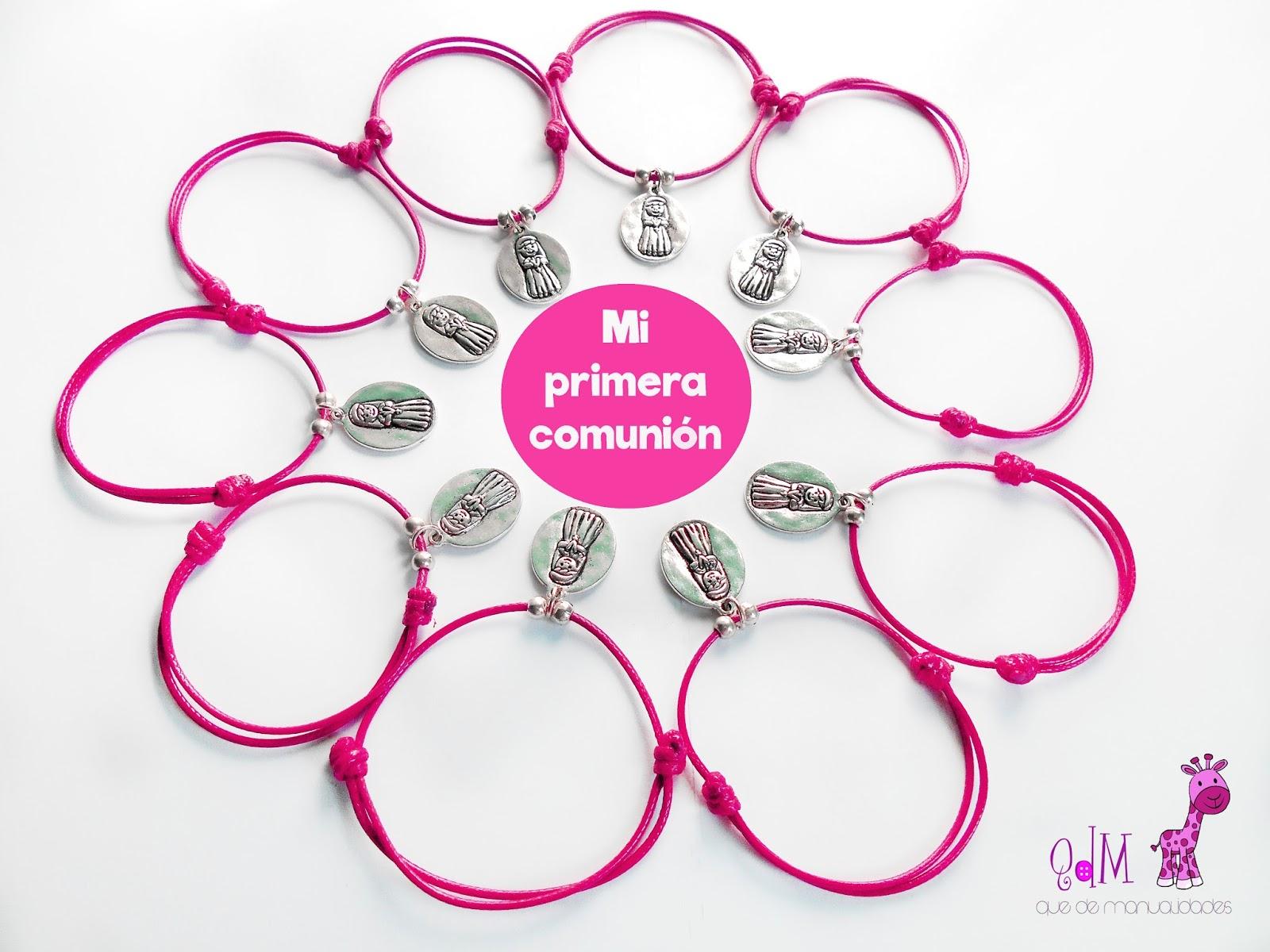 Detalles para comuniones pulseras que de manualidades - Manualidades para comunion de nina ...