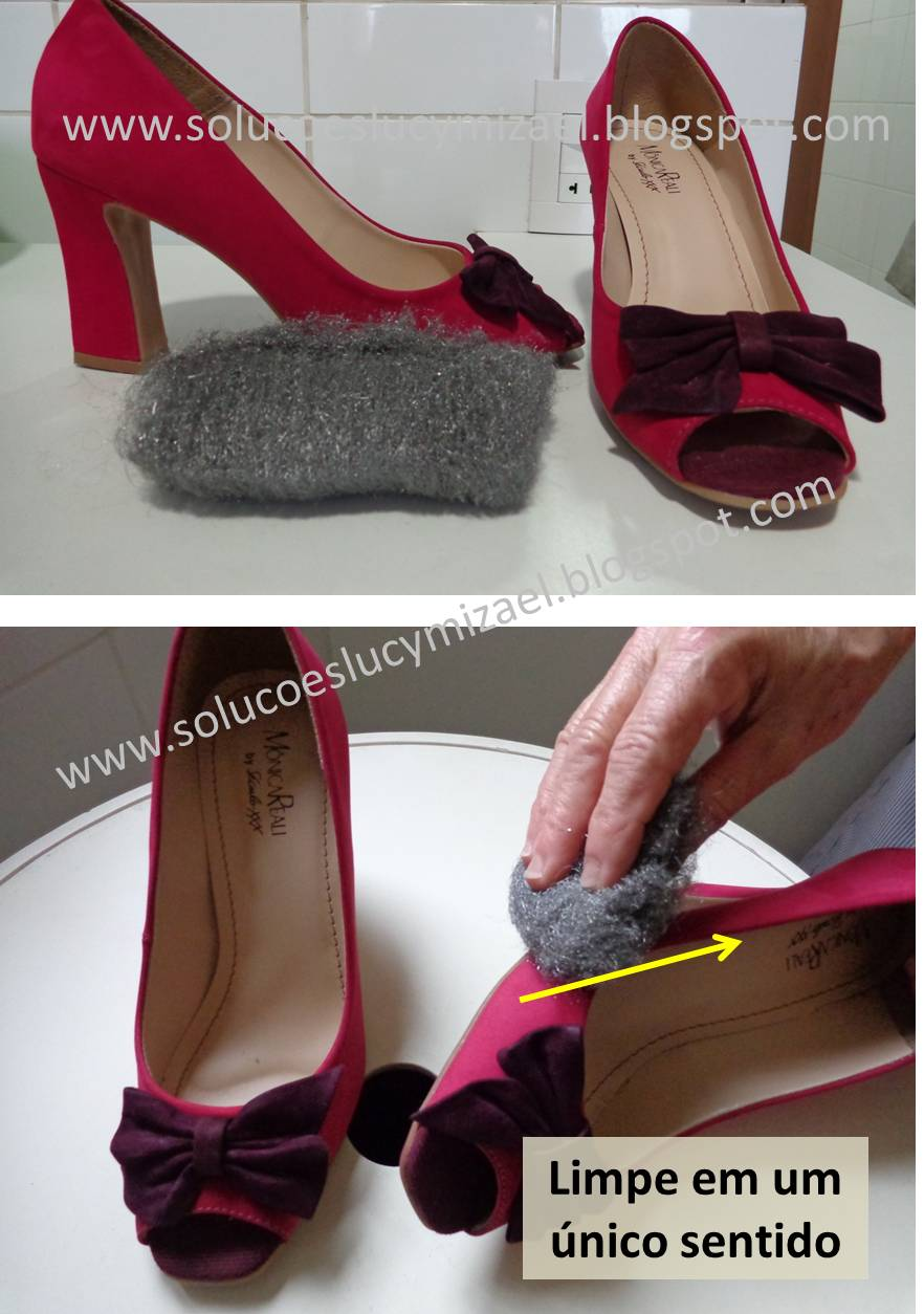 como eliminar chule da sapatilha