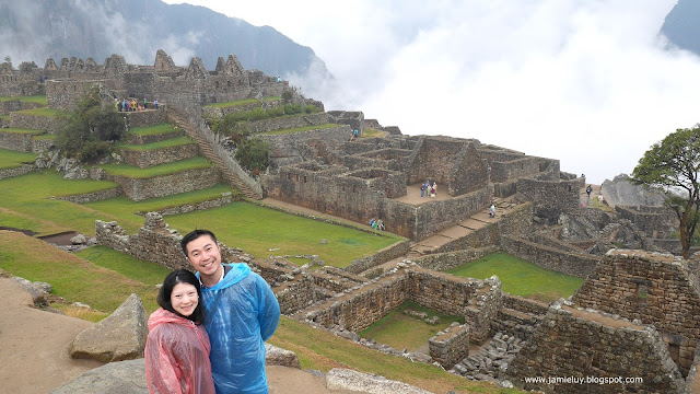 Sherick and Jamie in Machu Picchu, Peru