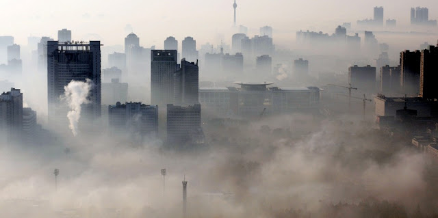 Smog in Chinese city