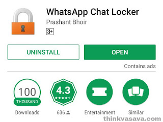 Whatsapp check locker download on play store in picture