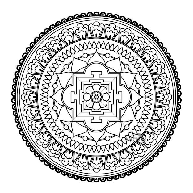 Square Mandala Coloring Pages  Bing Images