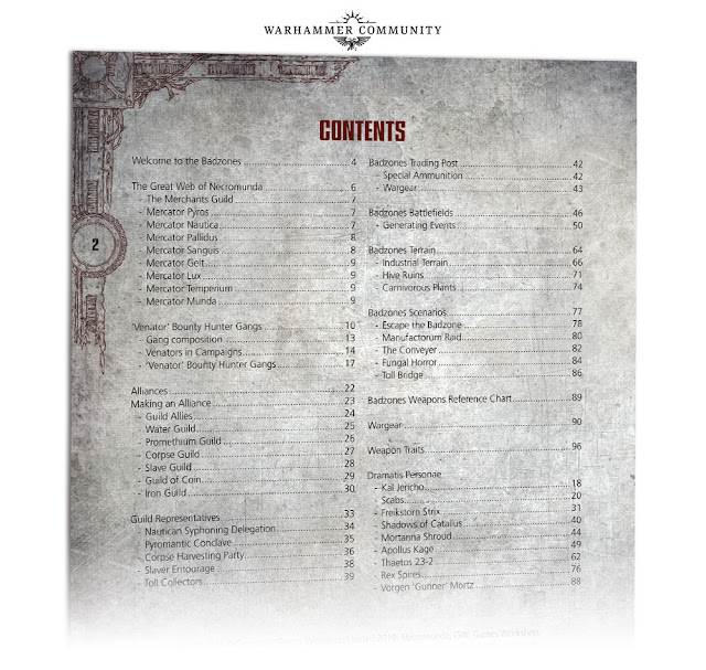 Indice Book of perils necromunda