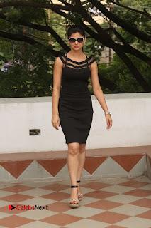 Actress Kamna Ranwat Pictures in Black Short Dress at Selfie Raja Interview 0320