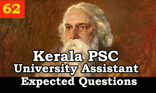 Kerala PSC : Expected Question for University Assistant Exam - 62
