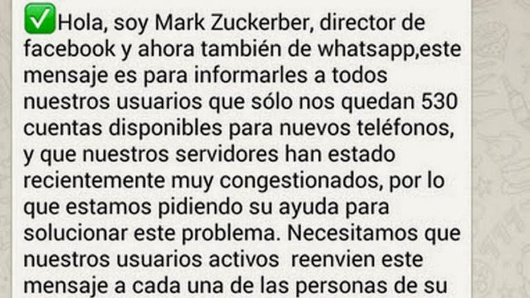 Mark WhatsApp Estafa