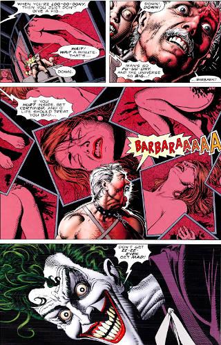 Joker torturing Jim Gordon