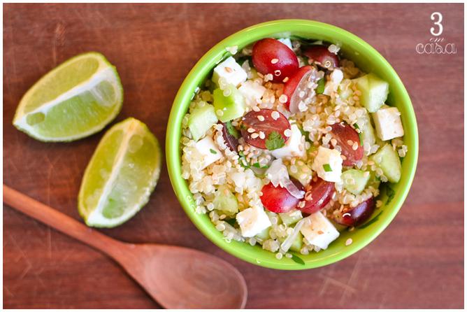 salada uva quinoa receita