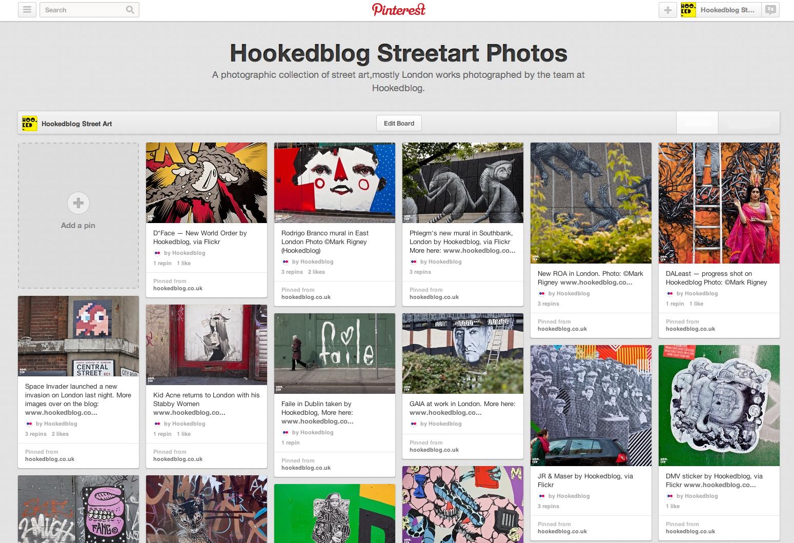 Hookedblog joins Pinterest's #PinItForwardUK campaign